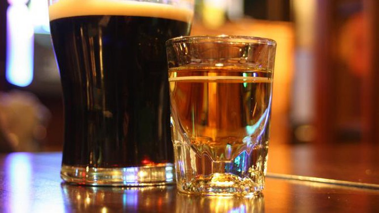 Guinness and Jameson at Nanny O'Briens, DC