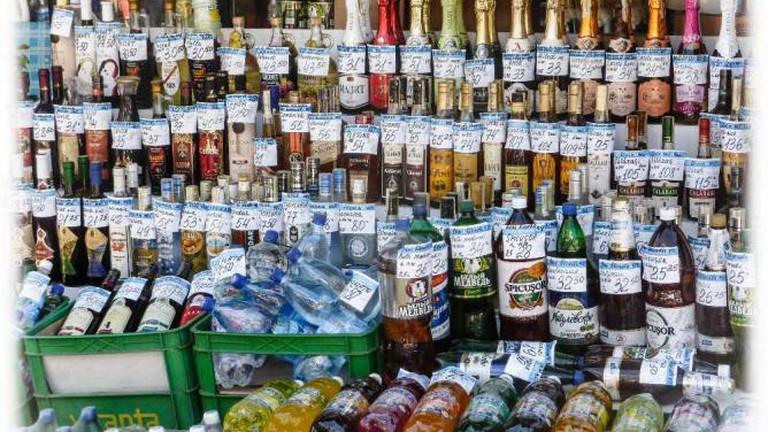 Assortment of bottles
