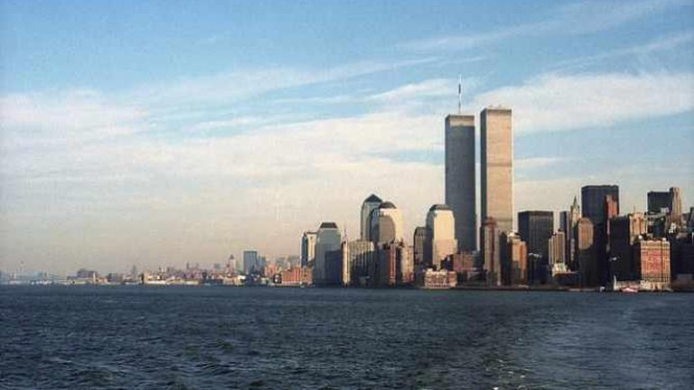 Pre-9/11 view of Manhattan
