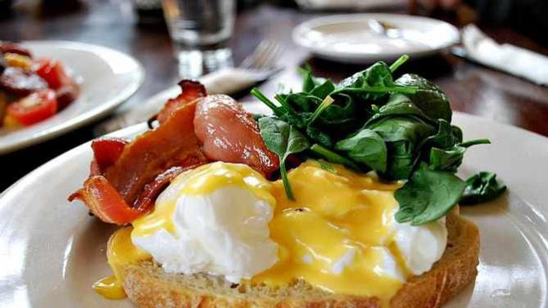 Eggs Benedict with Bacon - The Maling Room AUD13