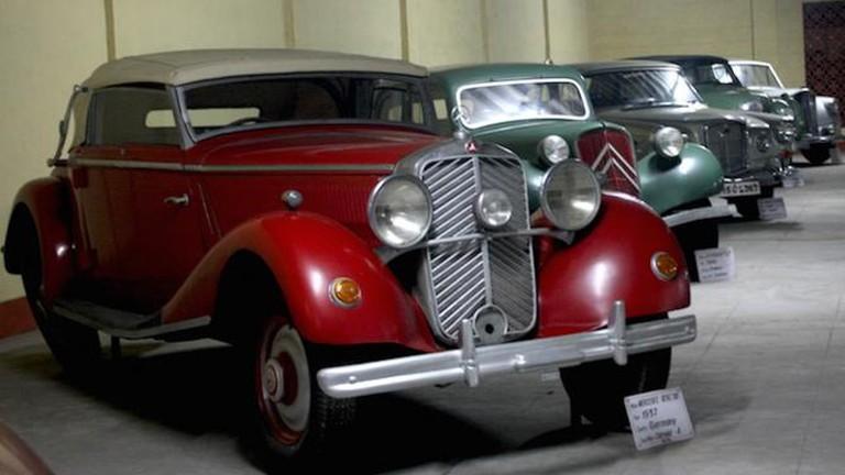 Mercedes Benz, 1937 model on display at Vintage Car Museum, Ahmedabad