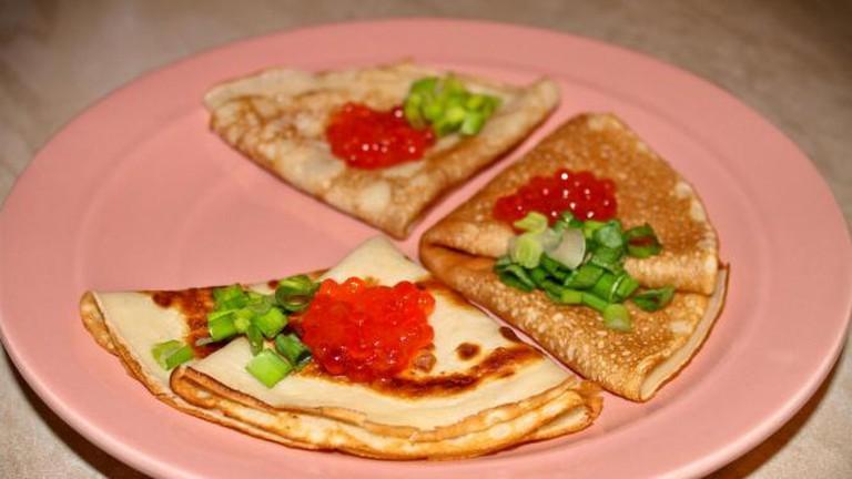 Russian Pancakes With Caviar