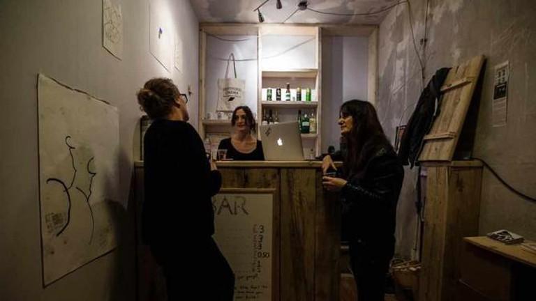 The bar at Deptford Cinema