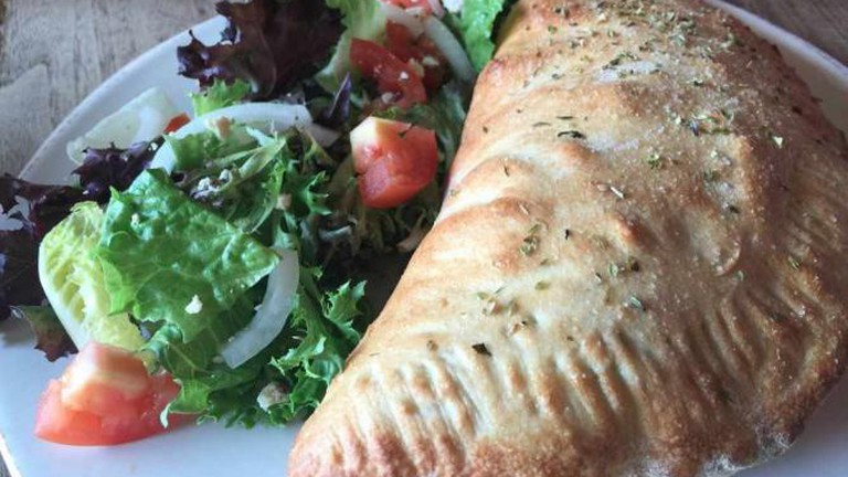 Can you handle a calzone from Dempsey's?