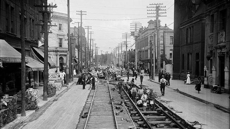 Historic photo of The Junction, Toronto