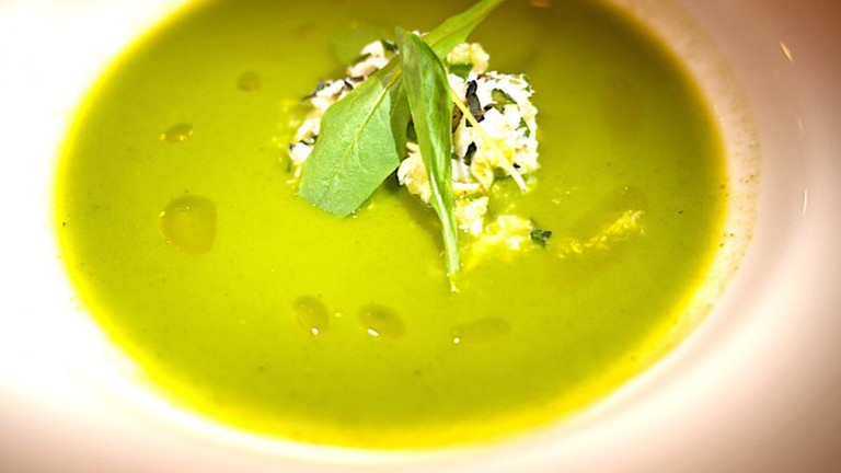 Squash and spinach soup