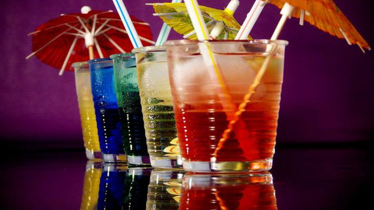 Cocktails with umbrellas