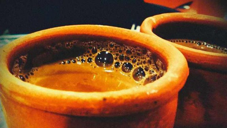 Masala Tea served in earthen cup