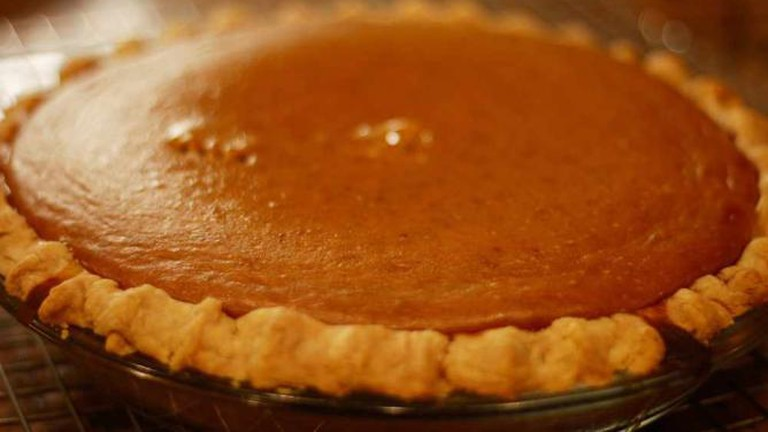 Pumpkin Pie from a *real* pumpkin