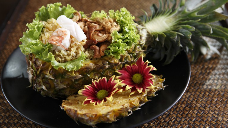 Baked-Rice-in-Pineapple
