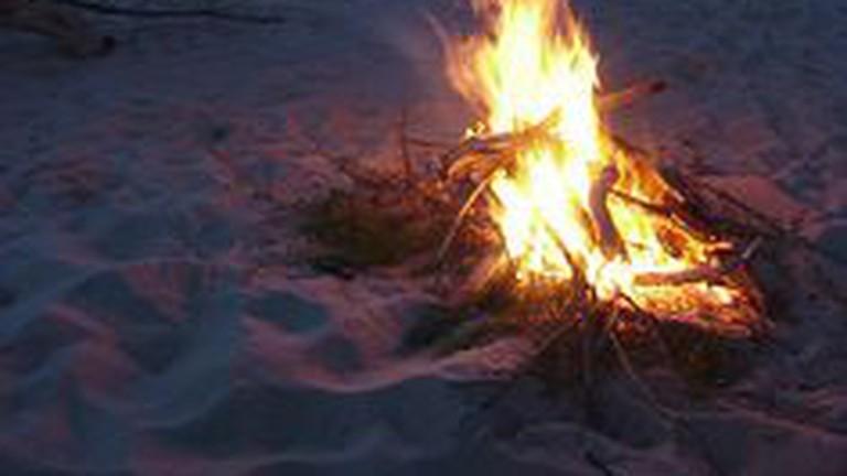 Bonfire at Ocean Beach