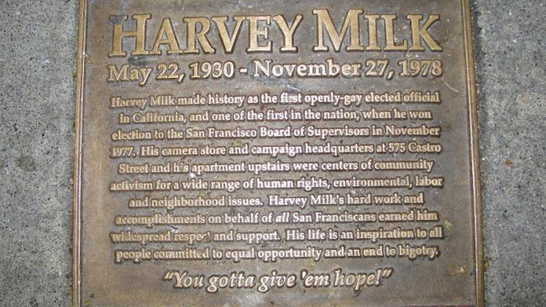 Harvey Milk plaque