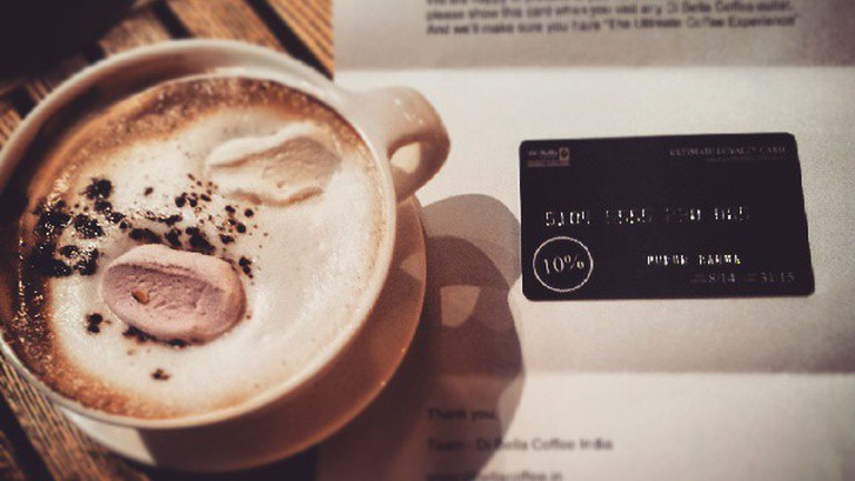 Di Bella coffee and loyalty card