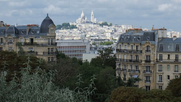 View over Montmartre, from Buttes Chant