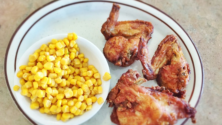 Fried Chicken and Corn at Dinah's