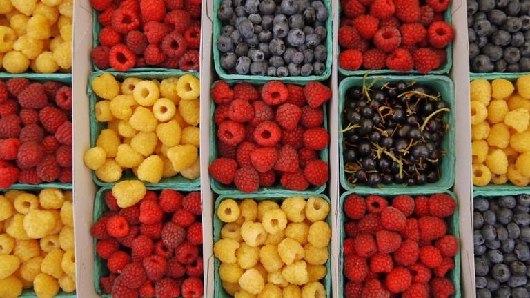 Berries at Santa Monica Farmers Market