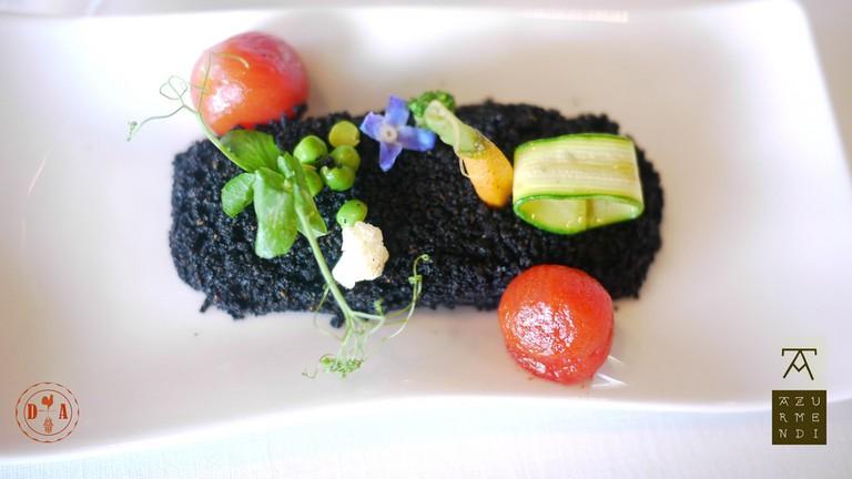 Veggies from the Earth. Dish made by Eneko Atxa for Azurmendi
