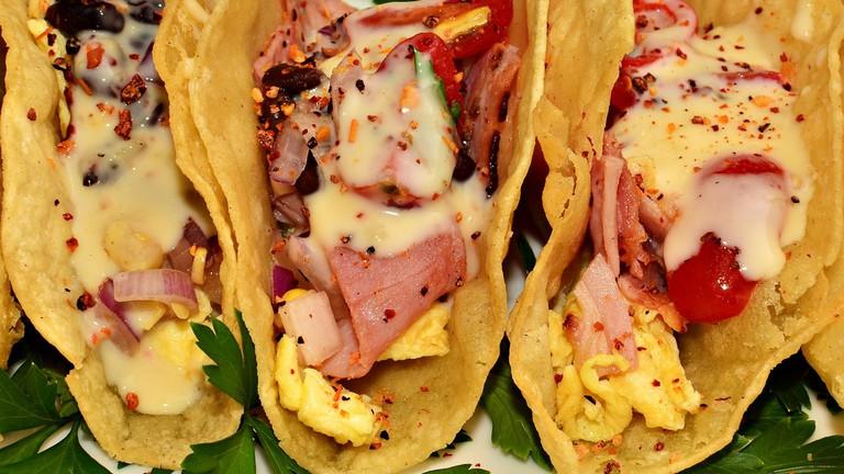 Mmm... breakfast tacos