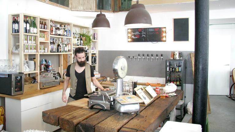 The kitchen-like bar at Gallo Rojo