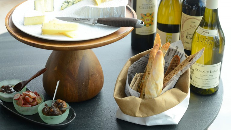 French Cheese With Wine