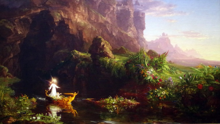 Thomas Cole, The Voyage of Life, Childhood