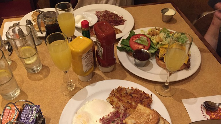 Southern Corned Beef Hash and Eggs, Al's Special, Mimosas