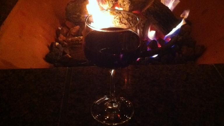 Fire and wine at Miramar Beach Restaurant