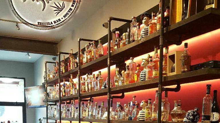 The bar at Baja 328