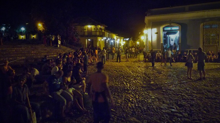Steps at the bottom of Casa de la Musica, Trinidad, Cuba