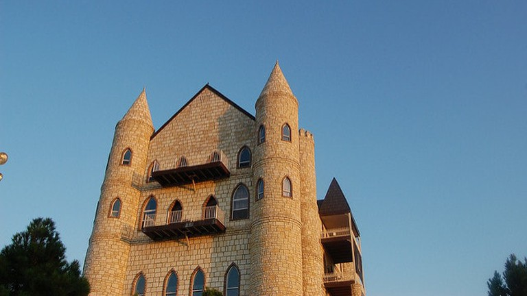 Falkenstein Castle was built to represent a castle blueprint created by King Ludwig II of Bavaria