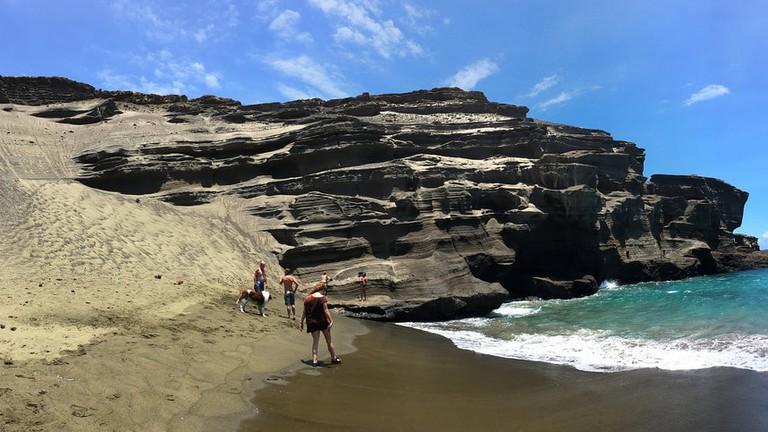 Green sand, Big Island