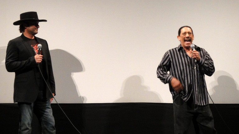 Robert Rodriguez and Danny Trejo at the Austin Film Society