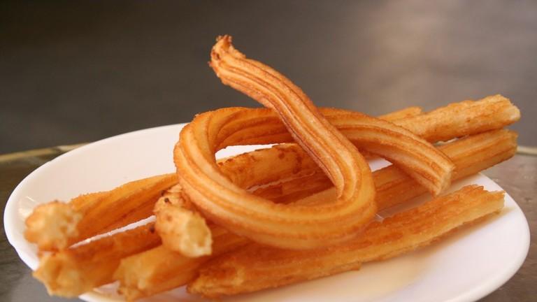 Enjoy churros in a grand setting at Café Royalty