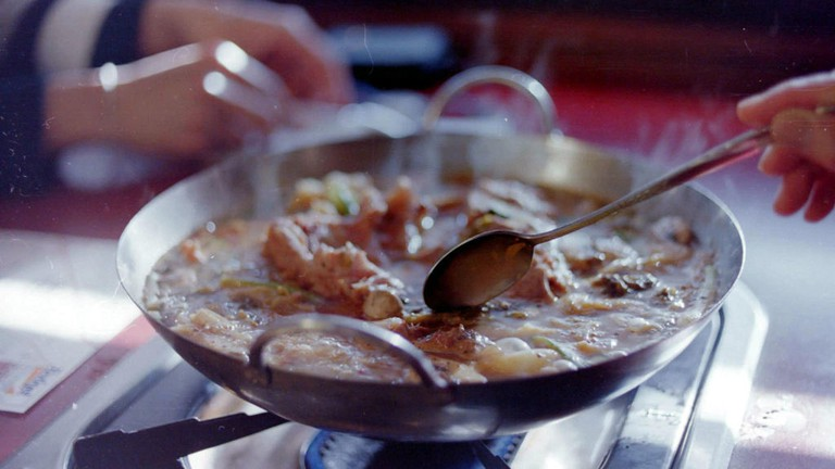 Pork Stew on hot pot