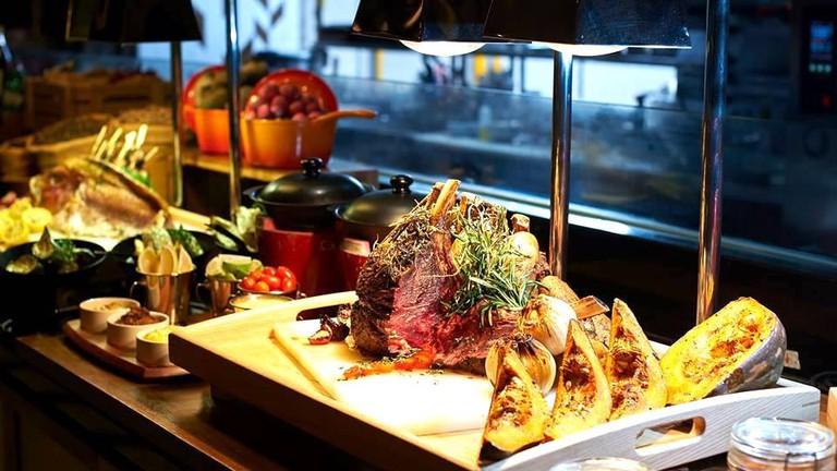 Buffet selection at Amaya Food Gallery