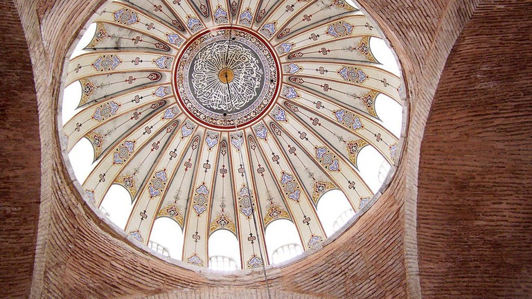 Central_dome_interior_of_Kalenderhane_Mosque