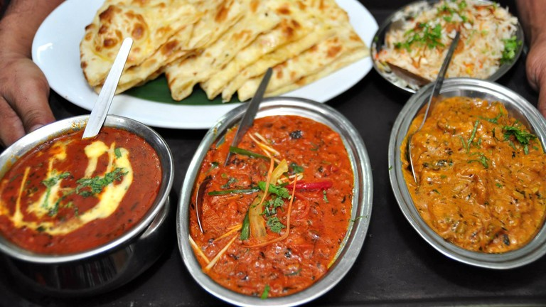Assorted curries at Chakra Restaurant