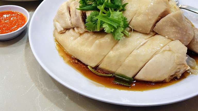 Hainanese Chicken Rice Steamed Chicken