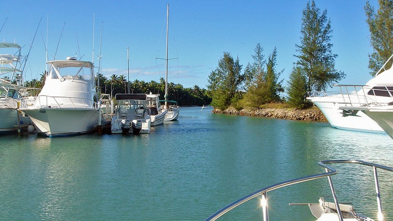 Boats in the marina at Club Deportivo del Oeste