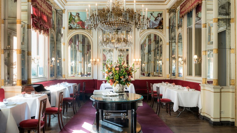 The elegant Risorgimento room at Del Cambio restaurant, Turin | Courtesy Del Cambio