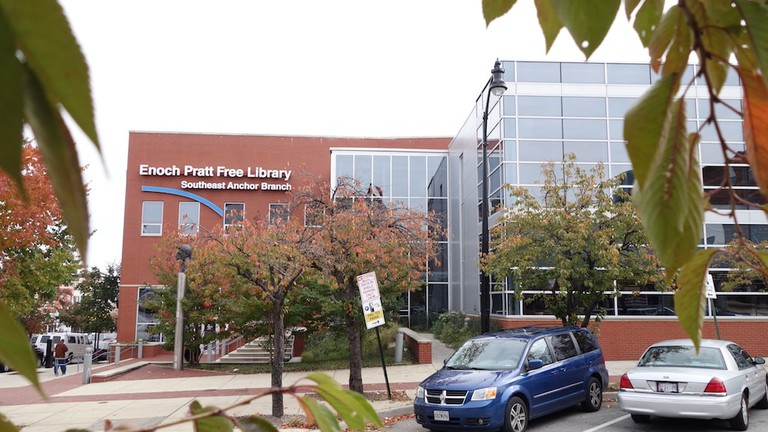 Most Beautiful Libraries Baltimore Enoch Pratt Southeast Anchor Branch Library