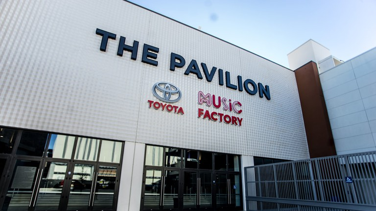 The Pavilion at Toyota Music Factory hosts concerts, stand up, and other entertainment