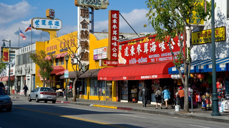 Chinatown in downtown Los Angeles