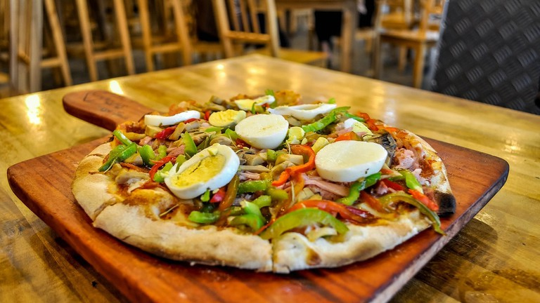 pizza fusion food restaurant asuncion