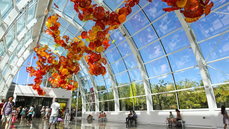 The Glasshouse at the Chihuly Garden and Glass