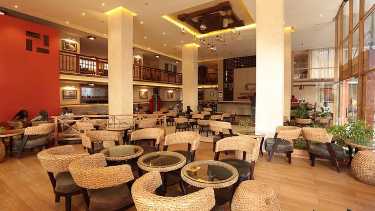 The Kategna restaurant around Bole