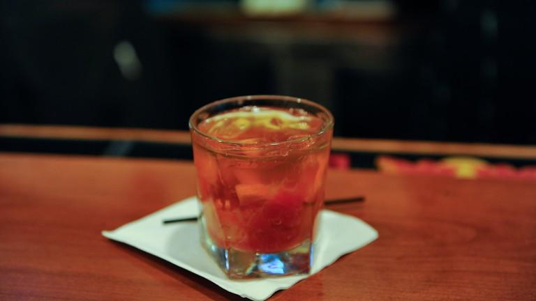 A drink at Mea Culpa