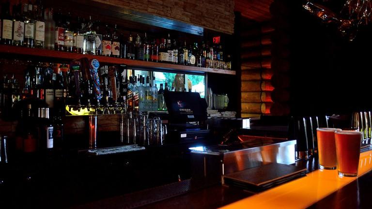 Interior of a bar