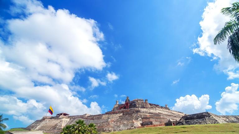 Historic San Felipe de Barajas castle in Cartagena, Colombia