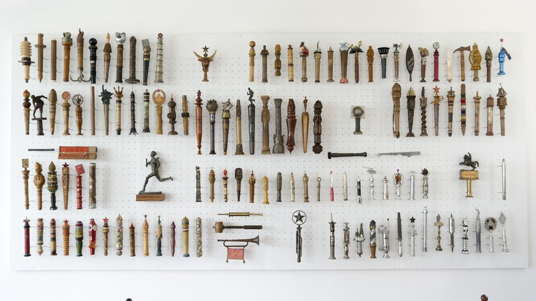 Collection of batons given to Yugoslavia's former president Josip Broz Tito inside House Of Flowers   © Photo Oz/Shutterstock